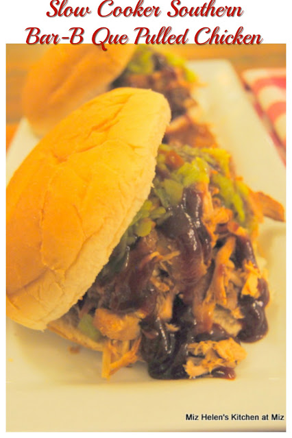 Slow Cooker Southern Pulled Bar-B-Que Chicken at Miz Helen's Country Cottage