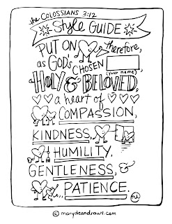 Practicing kindness + the Colossians 3:12 style guide