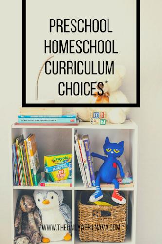 Preschool Homeschool Curriculum Choices - TheDailyAprilnAva