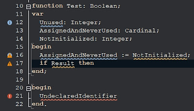 Delphi 10.4.2 Error Insight - Smooth Wave