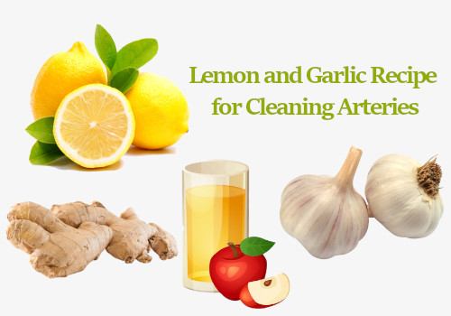 Lemon and Garlic Recipe for Cleaning Arteries