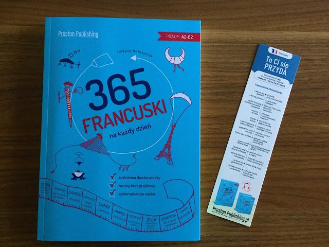 """Recenzje #159 - """"Francuski 365 na każdy dzień"""" - okładka książki - Francuski przy kawie"""