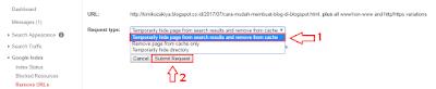 Cara Menghapus Url Blog Secara Permanen yang Terindex di Webmaster