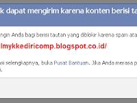 Mengatasi Tautan Link diblokir Facebook