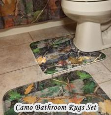 Camo Bathroom Rugs Set