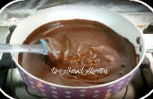 تشيز كيك الشوكولا بدون جيلاتين ولا أسهل