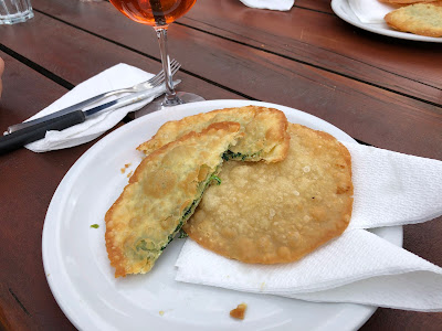 Ranch da Andrè - tutres, stuffed with spinach.