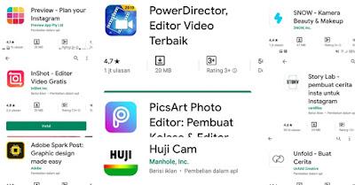 10 Aplikasi Edit Instastory/Snapgram Kekinian Seperti Selebgram