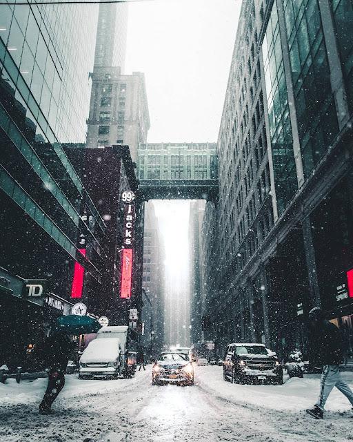 رمزية طريق مدينة تحت الثلوج للتصميم بدون حقوق من مدونة رمزيات www.r2y.net