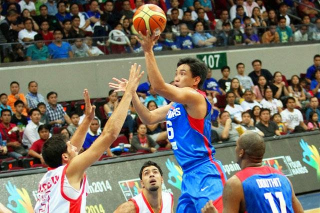 Jeff Chan buried a buzzer-beating trey as Philippines comes within six, 31-37, vs Croatia at the half