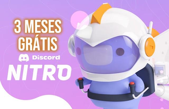 Pegue 3 meses grátis de Discord Nitro!