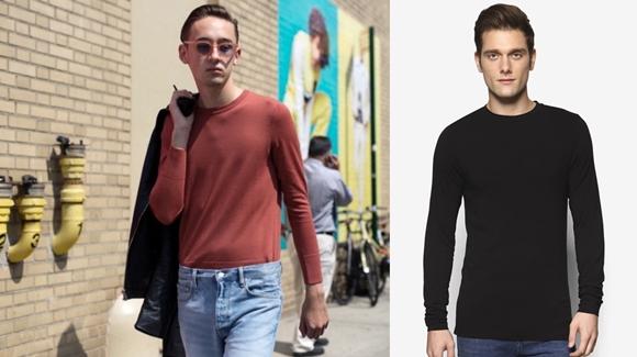 Baju Lelaki Terkini Long Sleeve T-Shirt