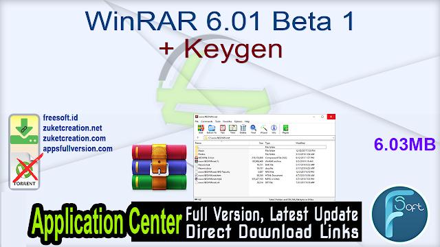 WinRAR 6.01 Beta 1 + Keygen