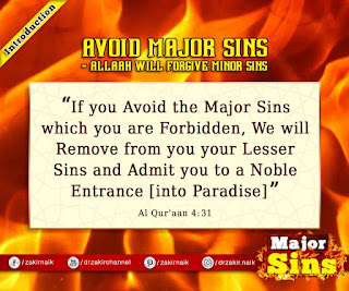 Avoid Major Sin  - Allah will forgive Minor Sins