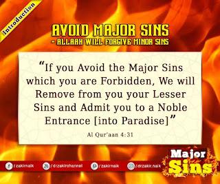 Avoid Major Sin - Allah will forgive Minor Sins