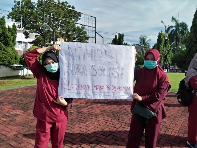 Peresmian Gubernur Diwarnai Demo Nakes RSMY Bengkulu