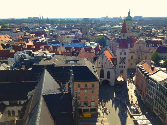 View of Munich from the clock tower