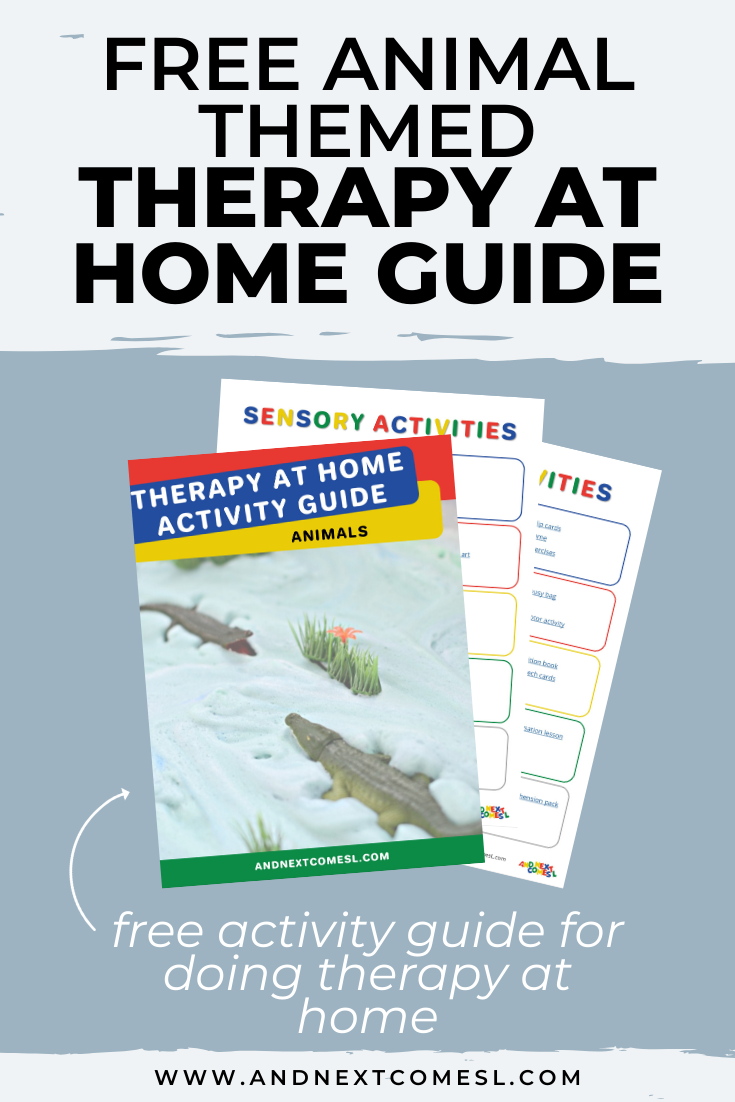 Free animal themed therapy at home activity guide for parents and therapists