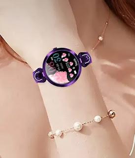 Luxury Gold Crystal Bracelet Smart Watch for Women