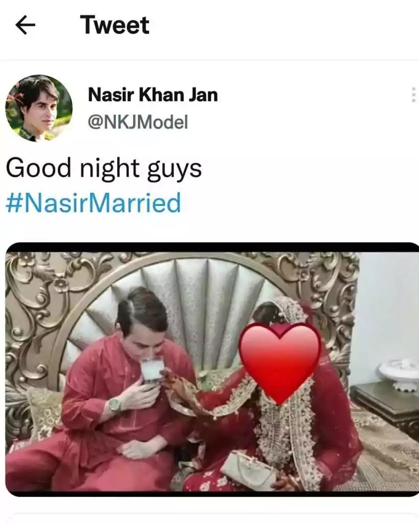 Nasir Khan Jan Wedding Pictures With His Wife