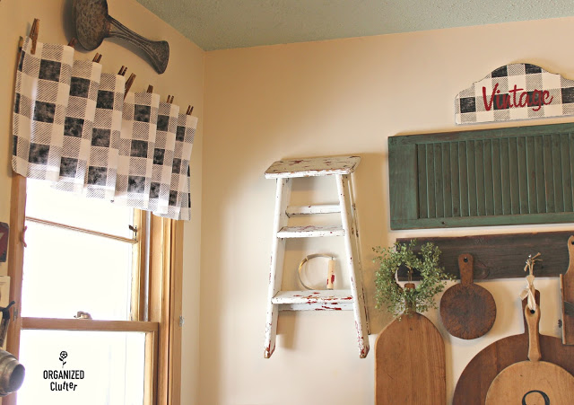 Flour Sack No Sew Buffalo Check Valance