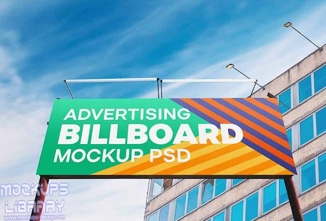 realistic outdoor billboard mockup