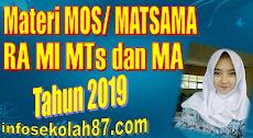 Download Contoh Materi MOS/MATSAMA MI,MTs dan MA Tahun Pelajaran 2019/2020
