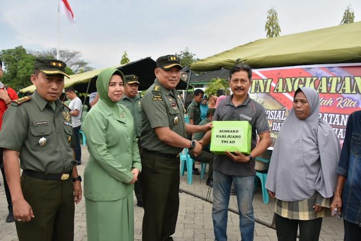 Korem 141/Tp Peringati Juang TNI AD Dengan Bakti Sosial