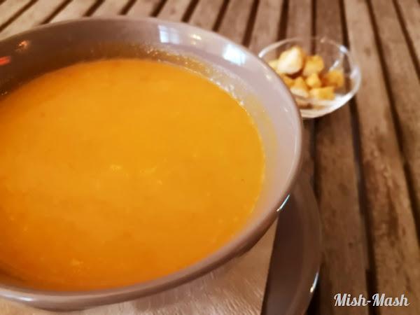 Крем супа с печени червени чушки