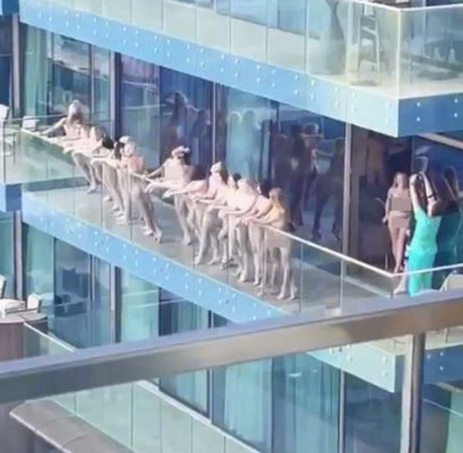 Women arrested after stripping to pose naked for 'stunt' in Dubai