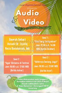 [Download Audio]  Dauroh Sehari Ustadz Dr.Syafiq Riza Basalamah MA di Semarang
