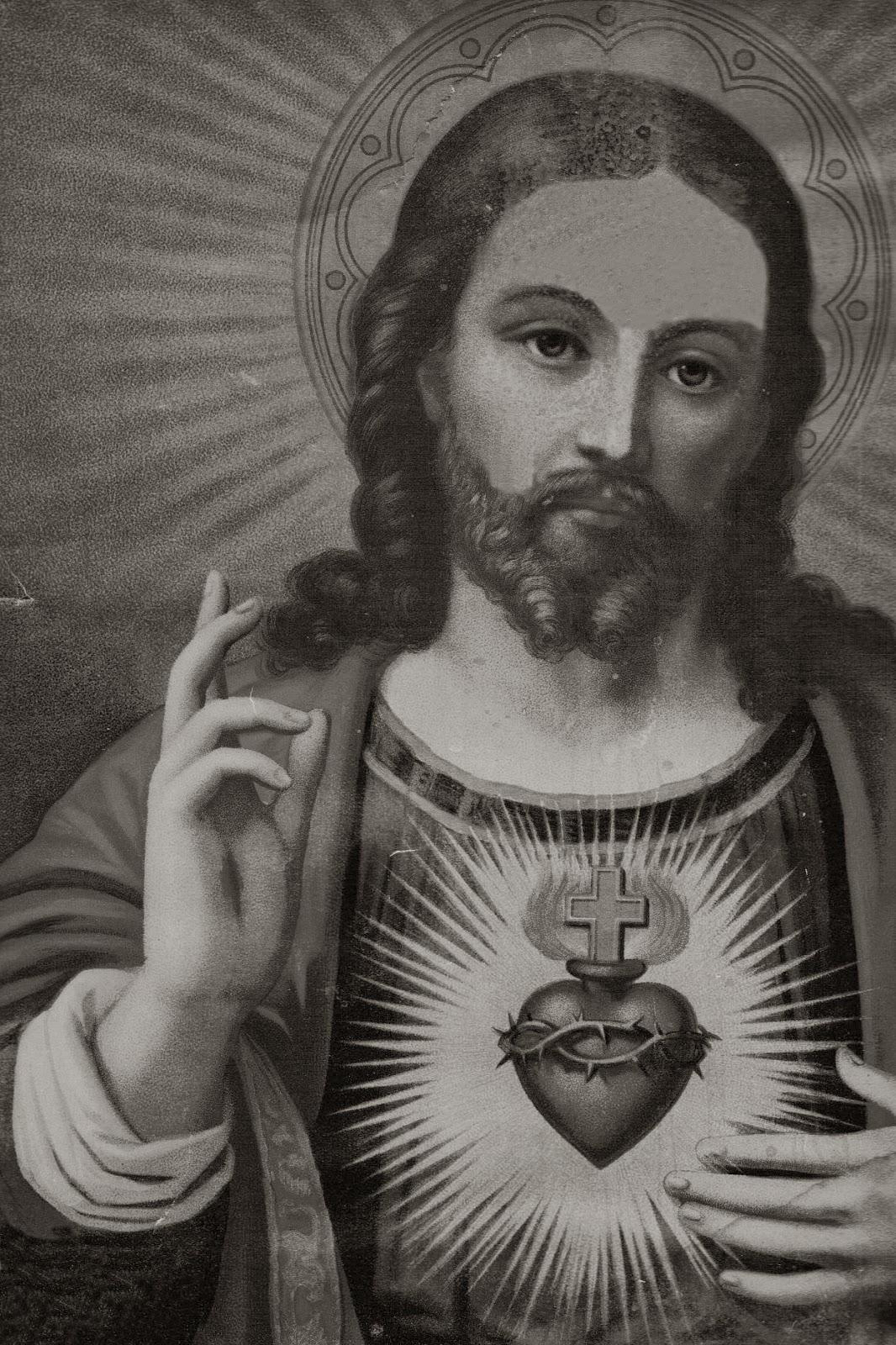 JESUS BLACK AND WHITE