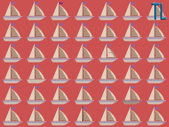 Encuentra los 5 veleros diferentes