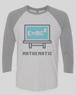 Contoh desain kaos kelas matematika lengan panjang