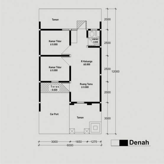 40 Contoh Denah Rumah Minimalis Type 36 Berbagai Model