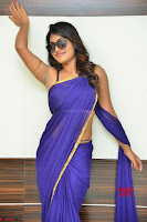 Actress Priya in Blue Saree and Sleevelss Choli at Javed Habib Salon launch ~  Exclusive Galleries 013.jpg
