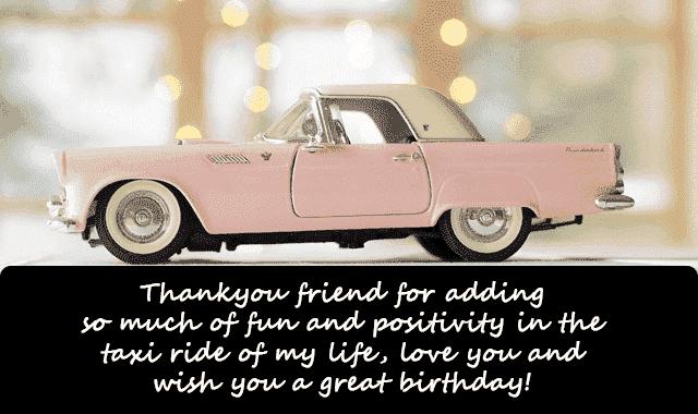 saying happy birthday to a friend