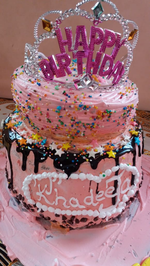 Special 2 Tier Birthday Cold Cake