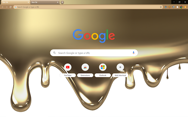 Liquid Gold Google Theme