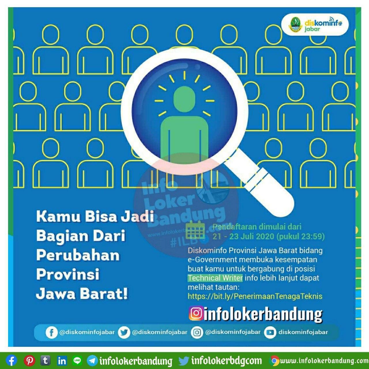 Lowongan Kerja Diskominfo Jawa Barat Juli 2020