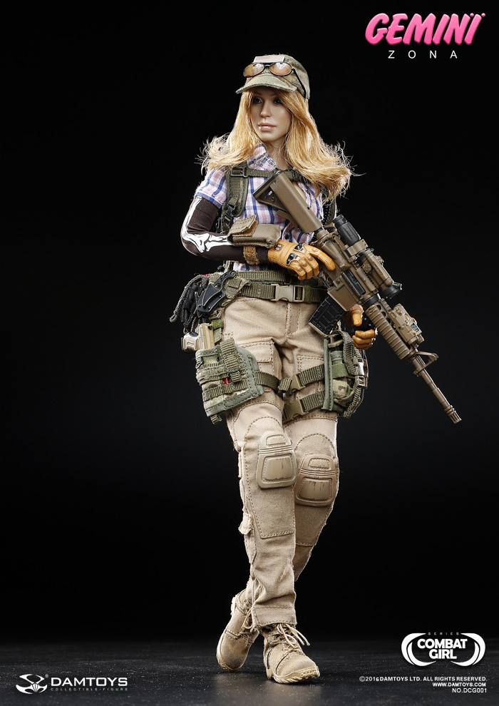 Girl Toy Figures : Toyhaven dam toys combat girl series th scale gemini