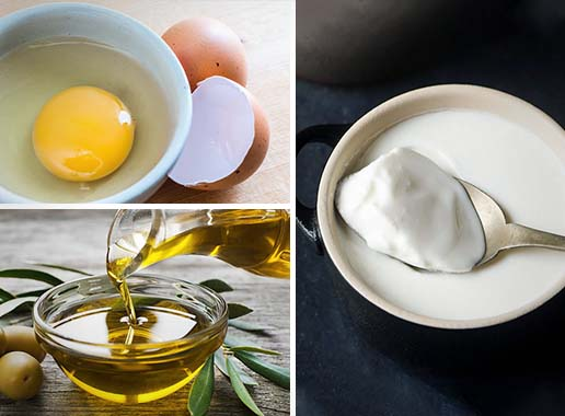 Egg, Olive oil & Yogurt Hair Mask