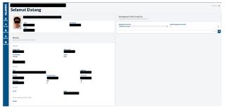 halaman awal profil siswa pada pendaftaran SNPMTN