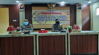Kapolres Pangkep AKBP Endon Nurcahyo Terima Kunjungan Tim Asistensi Mabes Polri