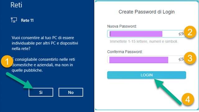 scelta della password di wi-fi extender