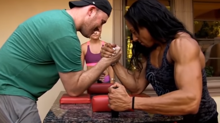Video Arm wrestling having technique