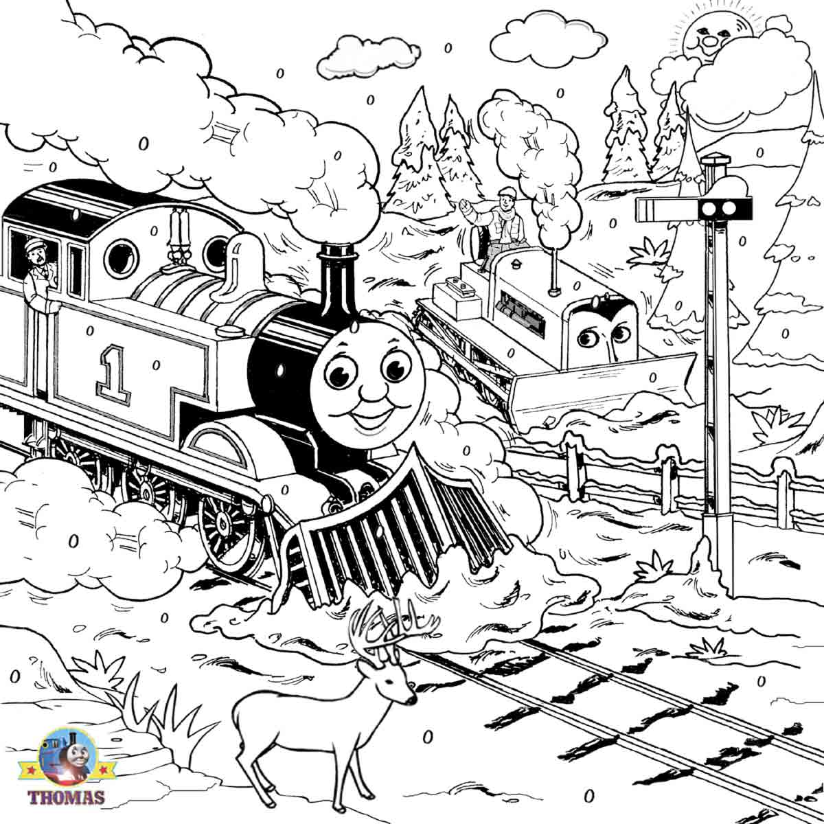 Thomas The Train Drawing300096 Free Coloring Pages Printable Pictures To Color Kids Drawing Ideas