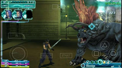 Game PPSSPP Final Fantasy Crisis Core VII ISO