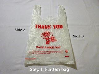 Step 1. Flatten bag.