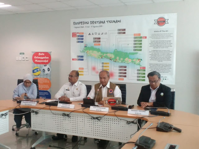 BNPB Gelar Ekspedisi Destana, Susuri 584 Desa di Selatan Jawa Rawan Tsunami